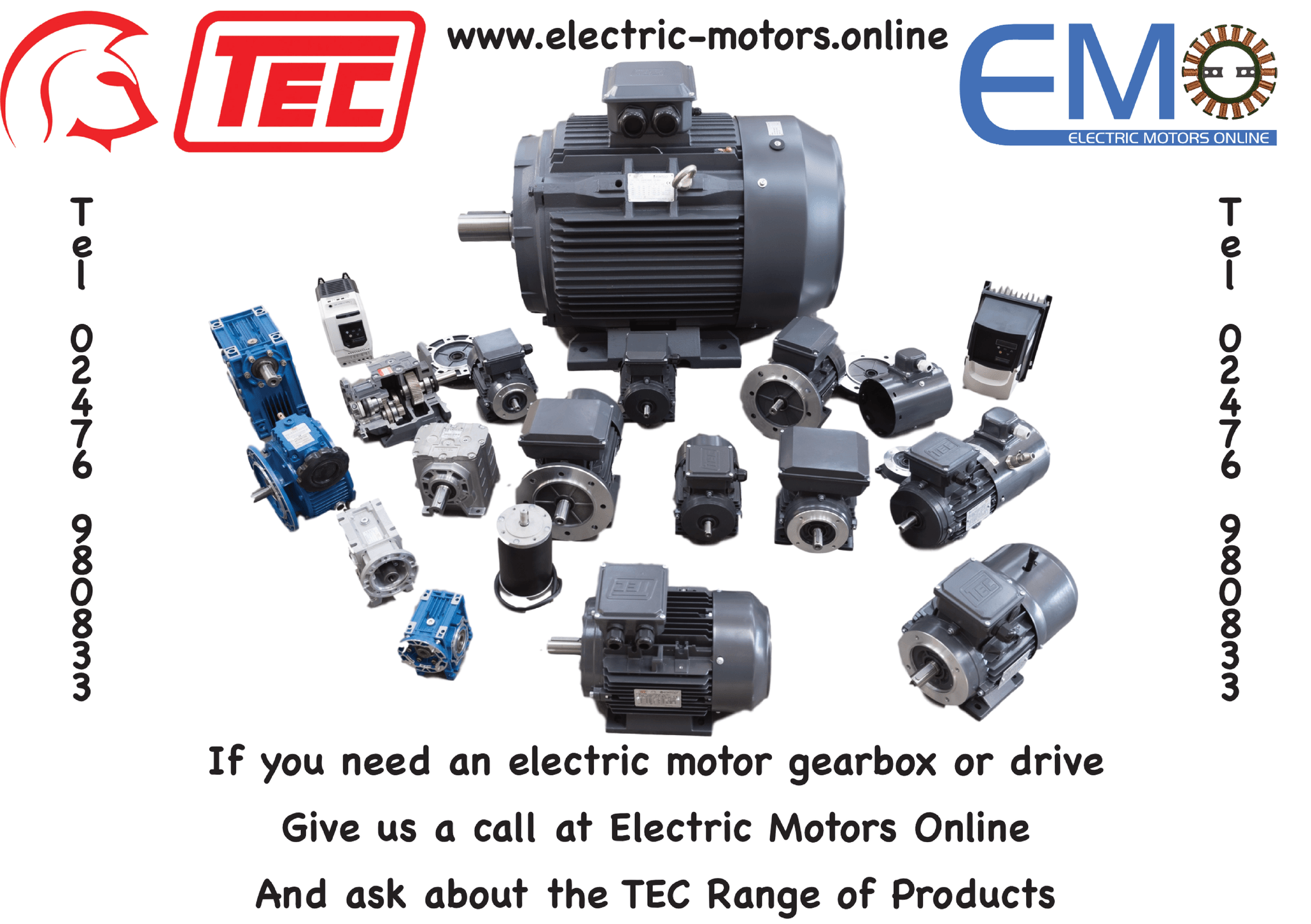 TEC Motors, Gearboxes and Drives