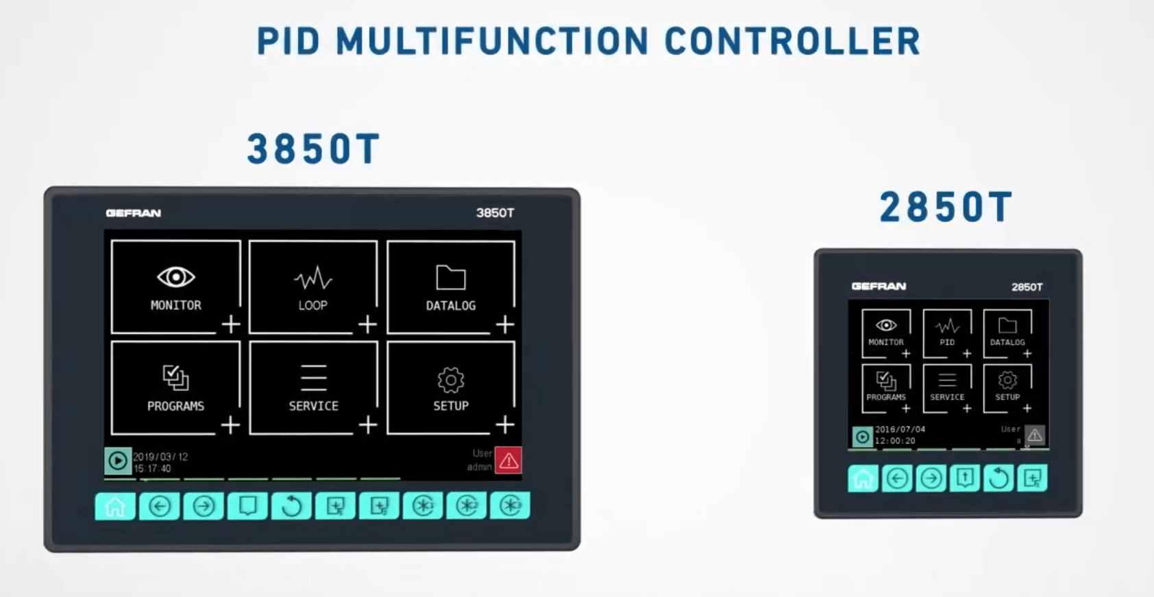 Gefran 3850T and 2850T Multifunction Controller
